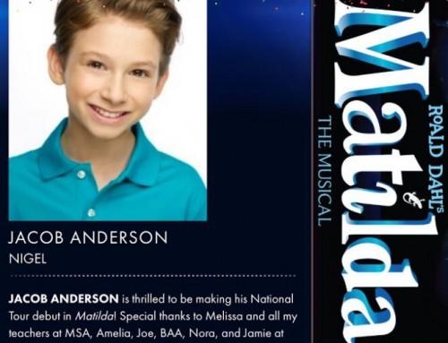 Congratulations Jacob Anderson!