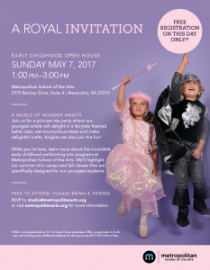 Early Childhood Open House @ Metropolitan School of the Arts | Alexandria | Virginia | United States